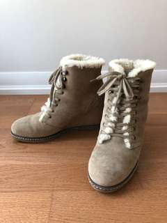 J. Crew shearling-lined boots