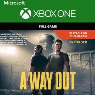 A Way Out XBOX LIVE Key GLOBAL