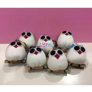 Owl Keychain Handmade (Customized Name)