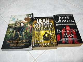 Dean Koontz. John Grisham.  Ransom Riggs.