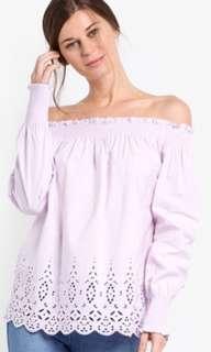 Dorothy Perkins Lilac Off-Shoulder blouse