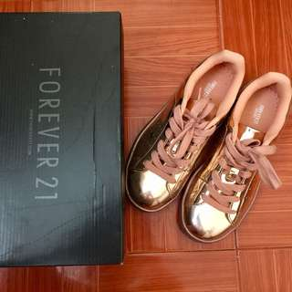 Forever 21 rose gold shoes
