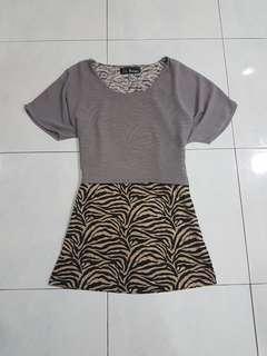 Loepard print dress