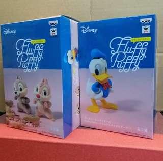 日版 Fluffy Puffy Disney Donald Duck chip & dale 景品