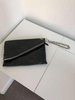 Xu - Clutch - Black/Silver Detail