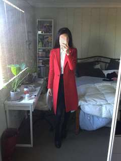 Forever New Red Wool Coat