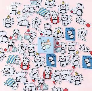 [Stickers] #32 Pan Pan Power Stickers for diary and scrapbooking