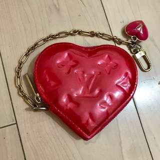 Louis Vuitton LV 絕版心型錢包 Coin purse keyholder 拉鍊有缺陷