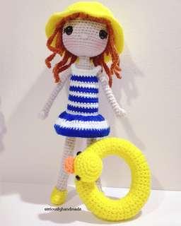 Crochet Beach Doll #2 / Amigurumi (pls pm for  Price)