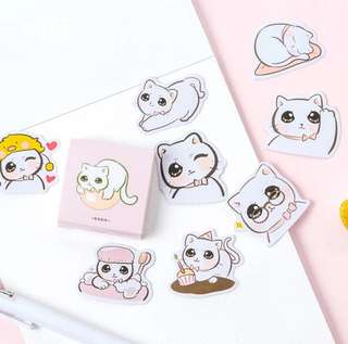 [Stickers] #34 Doe-Eyed Kitty Stickers for diary and scrapbooking