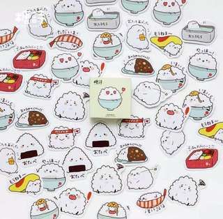 [Stickers] #35 Onigiri and Rice Bowl Stickers for diary and scrapbooking
