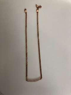 Michael Kors - Necklace - Rose Gold/Dimanates