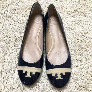 Authentic TORY BURCH Midnight Blue Flats