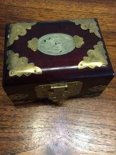 Vintage Jewellery Box with unique lock