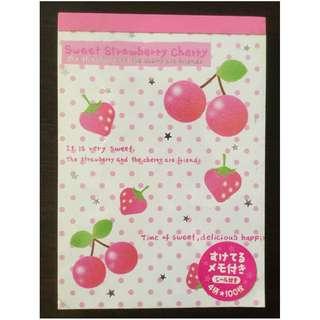 Sweet strawberry cherry paper
