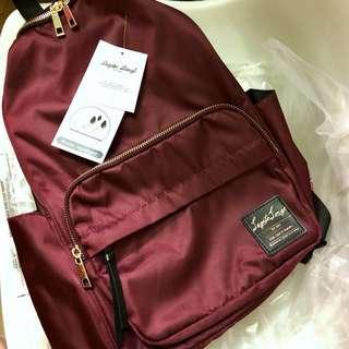 Legato Largo 酒紅尼龍背囊 Burgundy Red Nylon Backpack