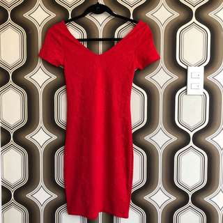 Cotton On Red Bodyfit Dress