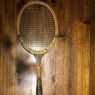Vintage ROSSIGNOL Wooden Antique Tennis Racket Racquet