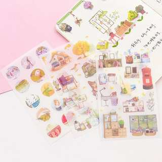 (PO) Peaceful Garden Home Stickers