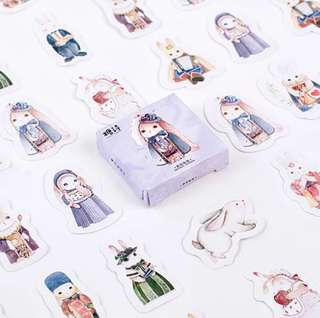 [Stickers] #29 Alice Rabbit Stickers for diary and scrapbooking