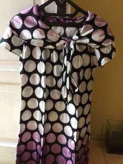 Dress Pita Depan Bahan Satin