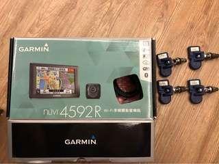 GARMIN 4592R 衛星導航,行車記錄器,胎壓偵測器 三合一