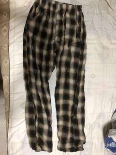 Korean Plaid Relaxed Pants