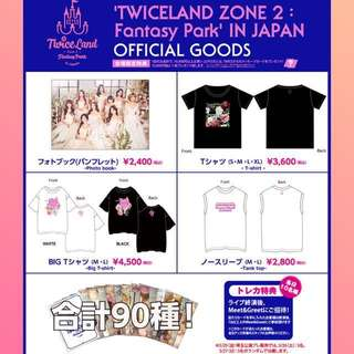 TWICE Zone 2 Twiceland Fantasy Park In Japan Official Goods