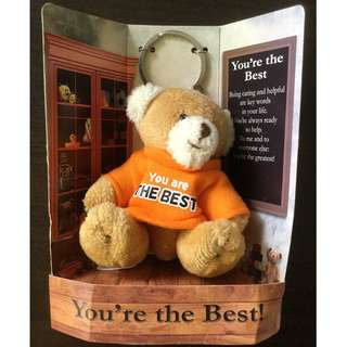 """You Are The Best"" Bear Keychain"
