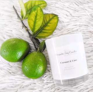 Coconut &Lime Soy Candle| 100% Soy Wax|Hand Poured