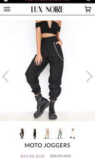 Lux noire CARGO PANTS + SIDE CHAIN BRAND NEW