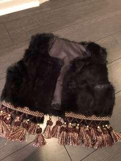 Rabbit hair vest
