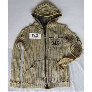 Vintage D&G Jacket, Retro Old Fashion, Rare Dolce & Gabbana Designer Warm Jacket with Hoody, Original, Italy, Authentic, Pullover Jacket, Sweater, Jumper, Hoodie, Hip Hop, Hipster, Street Style, Casual Wear, Dolce Gabbana