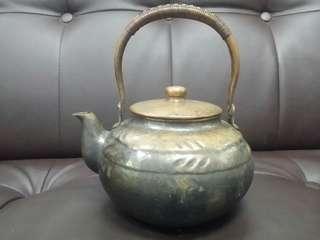 日本手工紅銅壺
