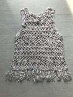 Pull & Bear Crochet Knitted Top