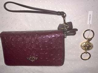 Coach Wallet / Wristlet with free keychain