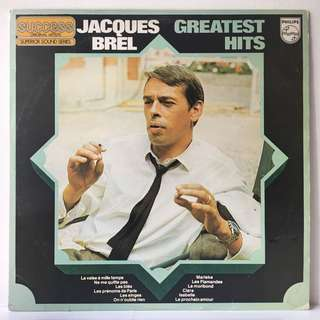 Jacques Brel – Greatest Hits (1979 South Africa Original - Vinyl is Excellent BUT HAS SLIGHT EDGE WARP THAT DOES NOT EFFECT PLAY)