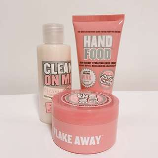 SOAP&GLORY body polish, hand cream, shower gel set