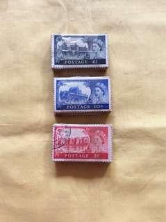 英国高面值邮票 300Pcs