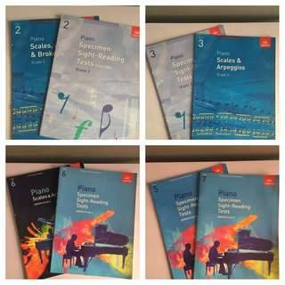 Abrsm piano scales and sight book