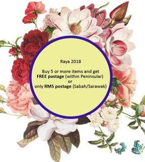 Raya 2018 postage offer :))