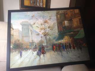 Signed Oil Painting. Artist : Weilon