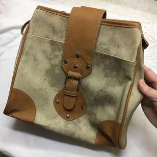 Sylvia Santos Brown Leather Single Strap Bag
