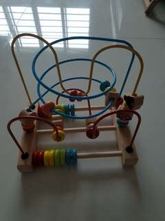 Wooden Toy baby fine motor skill