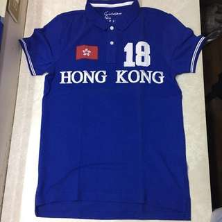 Giordano Hong Kong Blue Polo Shirt