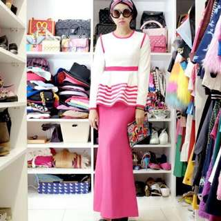 Diana Rikasari White and Hot Pink
