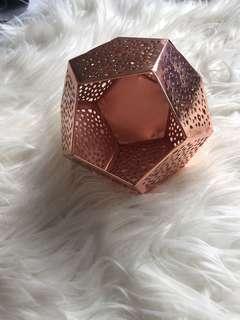 Decorative rose gold pot