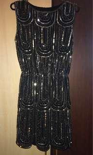 Black/Gold Gatsby Dress
