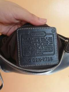 Authentic Leather Coach Wristlet