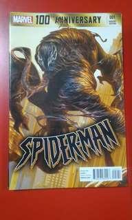 Marvel 100th Anniversary Spider-Man Lozano Variant